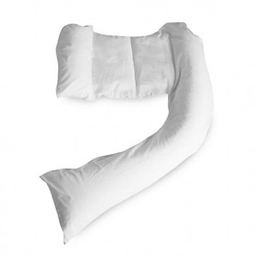 Dreamgenii Pregnancy Pillow COVER White