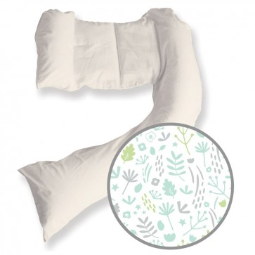Dreamgenii Pregnancy Pillow Nature Grey Green