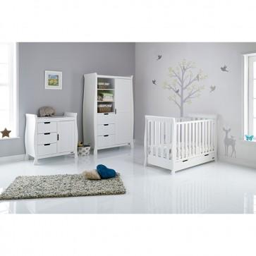Obaby Stamford Mini Sleigh 3 Piece Room Set - White