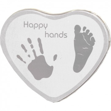 Xplorys Happy Hands Hand & Footprint Tin Silver
