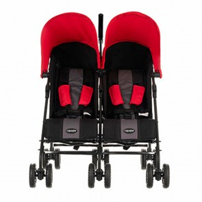 Obaby Apollo Twin Stroller - Red Hoods