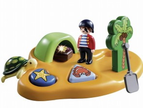 Playmobil 1.2.3 Pirate Island