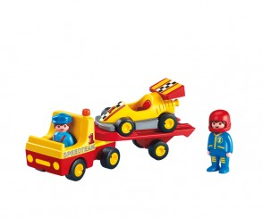 Playmobil 1.2.3 Tow Truck with Race Car