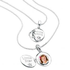 D for Diamond Twinkle Locket & Chain
