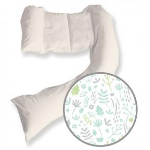 Dreamgenii Pregnancy Pillow Nature Grey Green