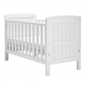 East Coast Austin Cot Bed - White