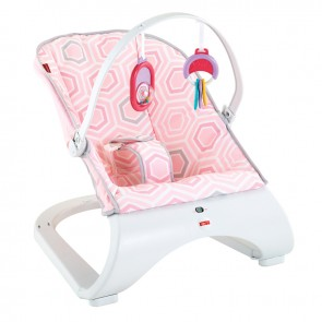 Fisher-Price Pink Saturn Snuggle Comfort Curve Bouncer