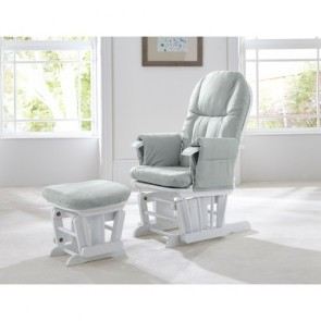Tutti Bambini GC35 Glider Chair - White with Grey Cushions