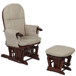 Tutti Bambini GC35 Glider Chair - Walnut With Cream Cushion