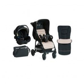 Hauck Rapid 4 Plus Shop N Drive Travel System - Caviar/Silver