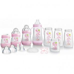 MAM Self-Sterilising Anti-Colic Bottle Starter Set Small - Pink