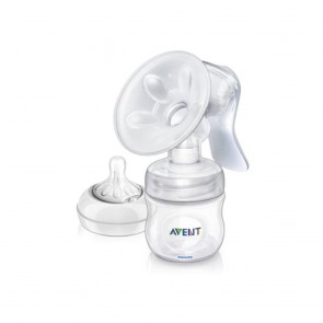 Philips Avent Comfort Natural Manual Breast Pump With Bottle