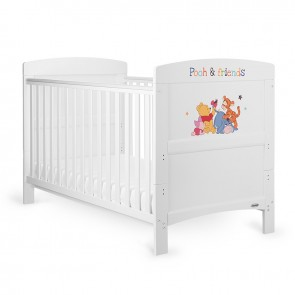 Obaby Winnie The Pooh & Friends Cot Bed - White