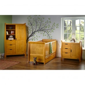 Obaby Stamford Classic Sleigh 3 Piece Room Set - Country Pine