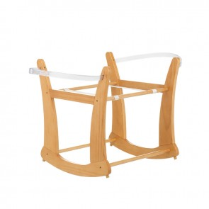 Obaby Rocking Moses Basket Stand - Taupe Grey