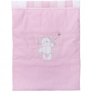 Obaby B Is For Bear 3pc Crib Set - Pink