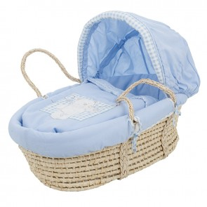 Obaby B Is For Bear Moses Basket - Blue