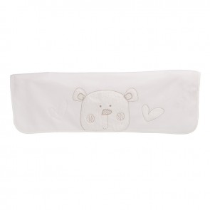 Obaby B Is For Bear Appliqued Fleece Blankets - White