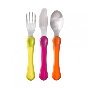 Tommee Tippee Explora 1st Grown Up Cutlery Set 3 Pack