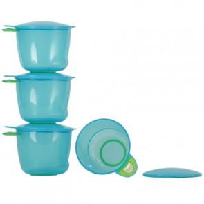 Vital Baby Prep and Go Food Pots - Blue