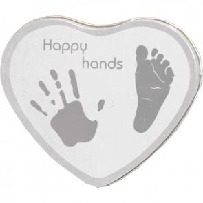Xplorys Happy Hands Hand & Footprint Tin Silver