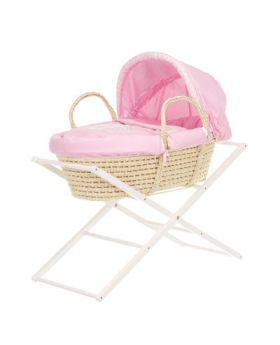 Obaby B Is For Bear Moses Basket - Pink