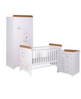 Tutti Bambini Bears 3 Piece Room Set - Beech/White