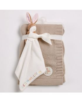 Guess How Much I Love You Knitted Blanket Gift Set