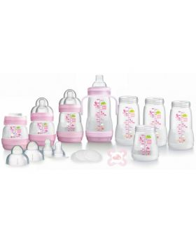 MAM Self-Sterilising Anti-Colic Bottle Starter Set Small - Pink