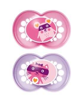 MAM Original Soother 12mths+  2 Pack - Pink
