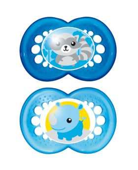 MAM Original Soother 12mths + 2 Pack - Blue