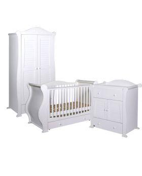 Tutti Bambini Marie 3 Piece Room Set - White