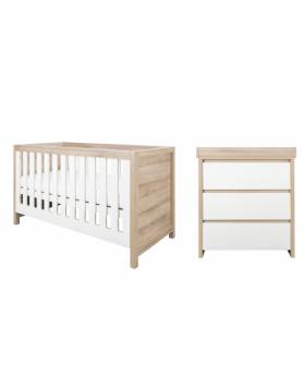 Tutti Bambini Modena 2 Piece Room Set - White and Classic Oak