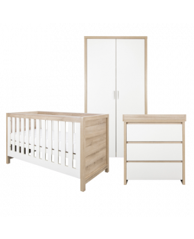 Tutti Bambini Modena 3 Piece Room Set - White and Classic Oak