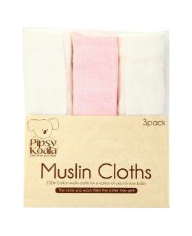 Pipsy Koala Muslin Cloths 3 Pack