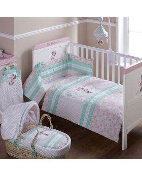 Obaby Minnie Mouse 3pc Crib Set - Love Minnie