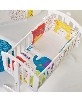 Obaby B Is For Bear 3pc Crib Set - Happy Safari