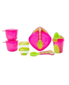 Vital Baby 8 piece Start Weaning Kit - Pink